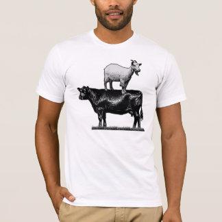 Geit op de T-shirt van de Koe