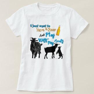 GEITEN   willen een Bier & een Spel met Geiten T Shirt