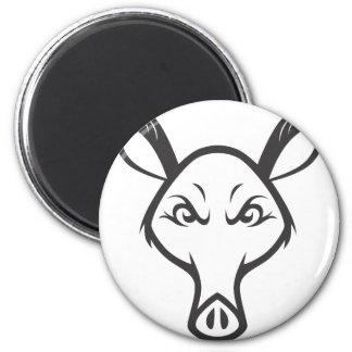 Gek Aardvarken Ronde Magneet 5,7 Cm