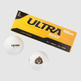 Gek Gekke Bruin Achterschip Emoji Golfballen