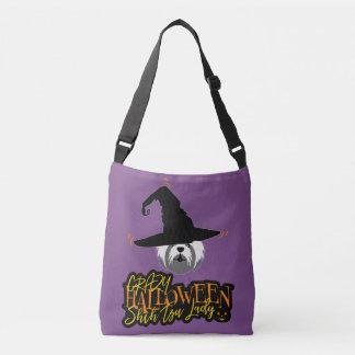 Gek Halloween Shih Tzu Dame Shih Tzu Mom Crossbody Tas