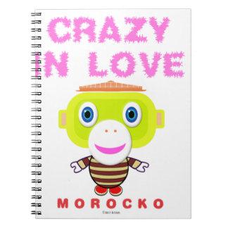 Gek in liefde-leuke aap-Morocko Ringband Notitieboek