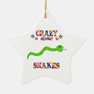 Gek over Slangen Keramisch Ster Ornament