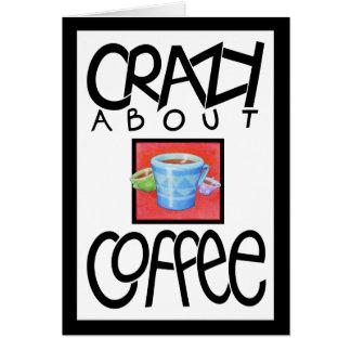 Gek over zwarte de grensKaart van de Koffie Kaart
