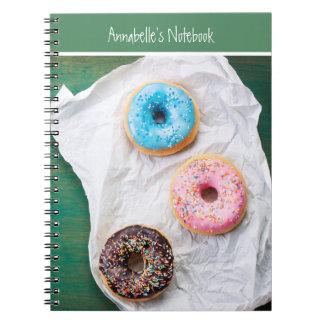 Gek voor Donuts | Gepersonaliseerd Spiraalvormig Ringband Notitieboek