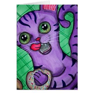 Gek voor Kat Donuts Wenskaart