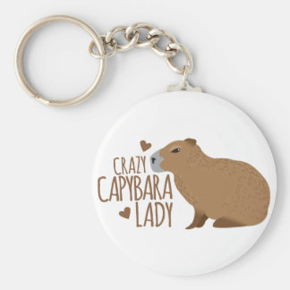 gekke capybaradame sleutelhanger