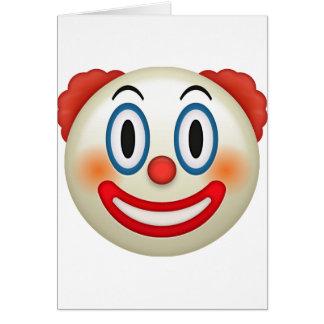 Gekke Clown Emoji Kaart
