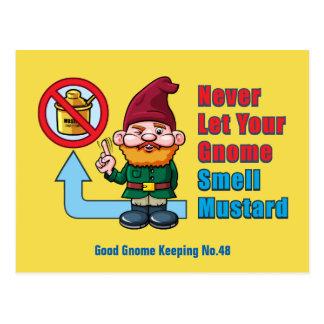 Gekke Gnoom en Mosterd Briefkaart