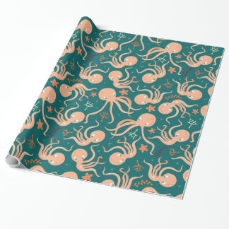Gekke het Dansen Octopus Cadeaupapier