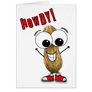Gekke Kaart van de Pinda van Howdy Googly Eyed
