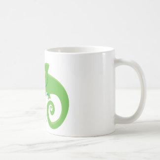 Gekke kameleondame koffiemok