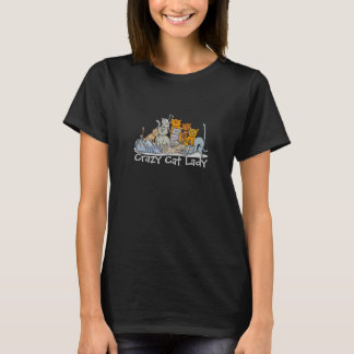 Gekke Kat Dame Clowder van de T-shirt van Katten