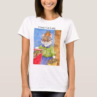 Gekke Kat Dame Tee Shirt