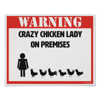 Gekke Kip Dame Poster