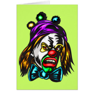 Gekke Kwade Clown Briefkaarten 0
