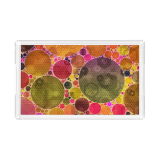 Gekke Mooie Abstracte Acryl Dienende Dienbladen