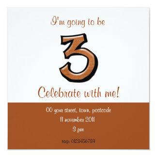 Gekke Nummer 3 de Uitnodiging van de Verjaardag