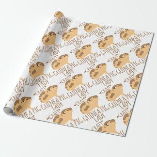 gekke proefkonijndame inpakpapier