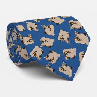 Gekke schapen Blackface op blauw stropdas als
