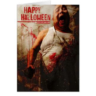 gekke slager Halloween Wenskaart