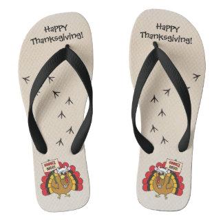 Gekke Turkije voor Thanksgiving Teenslippers