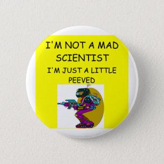 gekke wetenschapper ronde button 5,7 cm