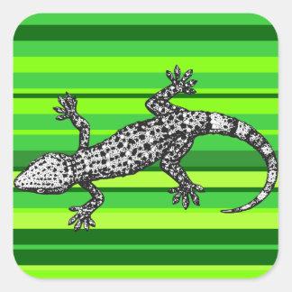 Gekko Vierkante Sticker