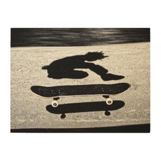 geklemd skateboard hout afdruk