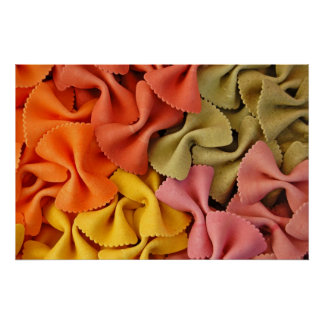 gekleurd farfalle poster