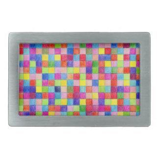 Gekleurd in de Vierkanten van het Millimeterpapier Gesp