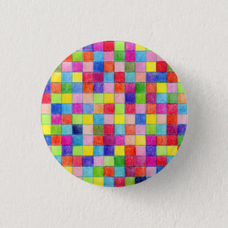 Gekleurd in de Vierkanten van het Millimeterpapier Ronde Button 3,2 Cm
