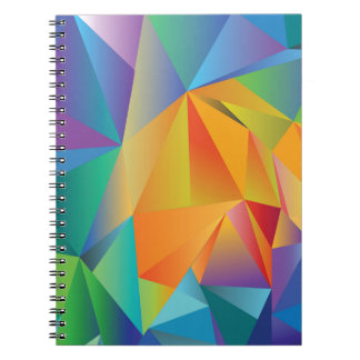 gekleurd kristal notitieboek