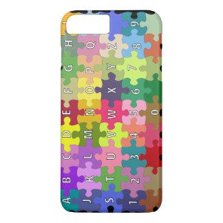 Gekleurd raadsel iPhone 8/7 plus hoesje
