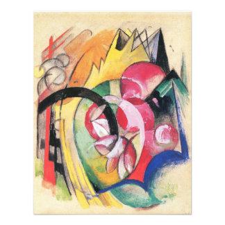 Gekleurde Bloemen (Abstracte Vormen) door Franz Gepersonaliseerde Uitnodiging
