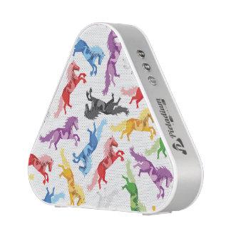 Gekleurde het springen van het Patroon Paarden Speaker