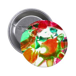 Gekleurde Lichten Ronde Button 5,7 Cm