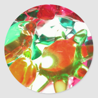 Gekleurde Lichten Ronde Stickers