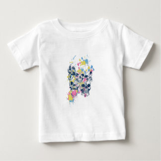 gekleurde vintage schedels baby t shirts