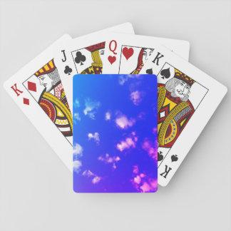 Gekleurde Wolken Pokerkaarten