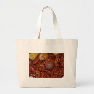 gekookte rivierkreeften grote draagtas