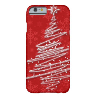 Gekrabbelde Kerstboom Barely There iPhone 6 Hoesje