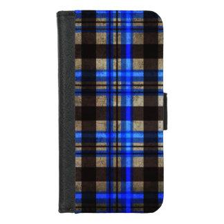 Gekregen Blauwe, Zwarte & Grijze Stedelijke Retro iPhone 8/7 Portemonnee Hoesje