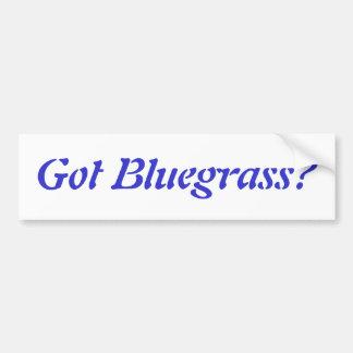 Gekregen Bluegrass? Bumpersticker