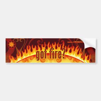 gekregen brand rode sticker