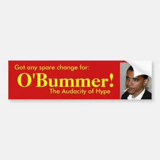 Gekregen extra verandering voor O'bummer? Bumpersticker