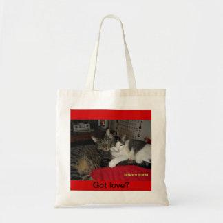 Gekregen liefde - katten op een zak budget draagtas