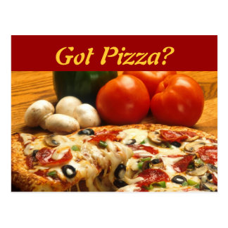 Gekregen Pizza? briefkaart