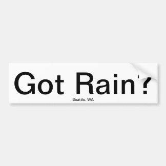 Gekregen Regen? Bumpersticker