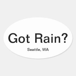 Gekregen Regen? Ovale Sticker